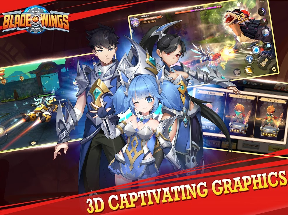 Download Blade & Wings: Future Fantasy 3D Anime MMORPG Game