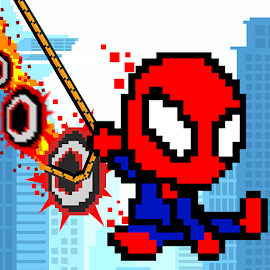 Rope Pixel Master - Rescue Hero Academy